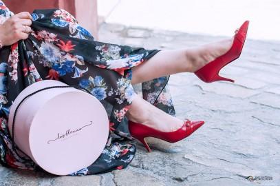 look floral con mis nuevos zapatos personalizos…